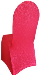 Embossed Vintage Spandex Chair Covers - Fuchsia 62609(1pc/pk)