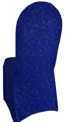 Embossed Vintage Spandex Chair Covers - Royal Blue 62622(1pc/pk)