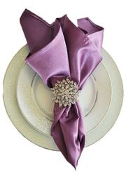 "20"" x 20"" Satin(Heavy Duty) Napkins (40 Colors)"