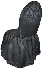 Jacquard Damask Polyester Banquet Skirt Chair Covers (6 Colors)
