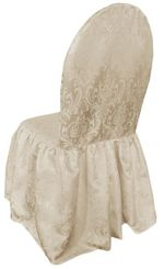 Jacquard Damask Polyester Banquet Skirt Chair Covers (5 Colors)