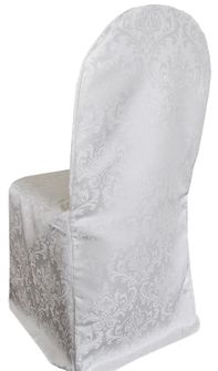 Jacquard Damask Polyester Banquet Chair Covers (9 Colors)