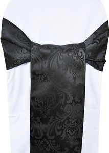 Jacquard Damask Polyester Chair Sashes (14 colors)