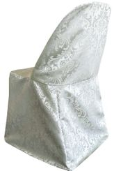 Jacquard Polyester Folding Chair Cover - Silver 97140(1pc/pk)
