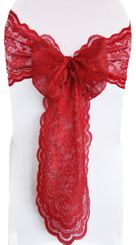Lace Chair Sashes - Apple Red 90108 (10pcs/pk)