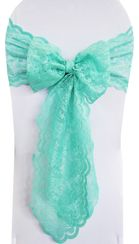 Lace Chair Sashes -Tiff Blue / Aqua Blue 90118 (10pcs/pk)