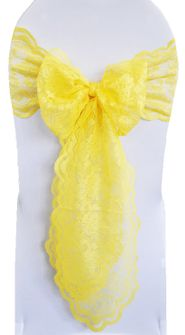 Lace Chair Sashes - Canary Yellow 90116 (10pcs/pk)