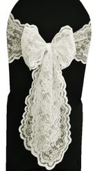 Lace Chair Sashes - Ivory 90102 (10pcs/pk)