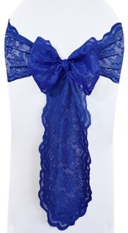 Lace Chair Sashes - Navy Blue 90123 (10pcs/pk)