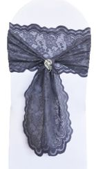 Lace Chair Sashes - Pewter 90160 (10pcs/pk)