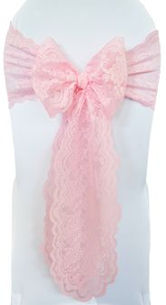 Lace Chair Sashes - Pink 90105 (10pcs/pk)