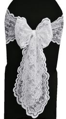 Lace Chair Sashes - White 90101 (10pcs/pk)