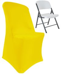 (200 GSM) Premium Spandex Lifetime Folding Chair Cover - Canary Yellow 63316 (1pc/pk)