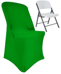 (200 GSM) Premium Spandex Lifetime Folding Chair Cover -  Emerald Green 63338 (1pc/pk)