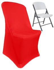 (200 GSM) Premium Spandex Lifetime Folding Chair Cover - Red 63312 (1pc/pk)