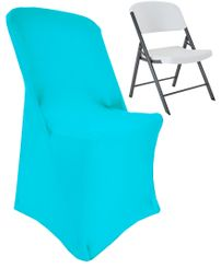 (200 GSM) Premium Spandex Lifetime Folding Chair Cover - Turquoise 63385 (1pc/pk)