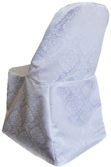 Marquis Damask Jacquard Polyester Folding Chair Covers (8 Colors)