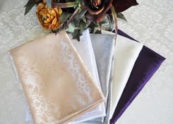 "20""x20"" Marquis Damask Jacquard Napkins (12 colors)"