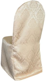 Marquis Jacquard Polyester Banquet Chair Cover-Champagne 99228 (1pc/pk)