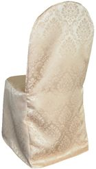 Damask Banquet Marquis Jacquard Polyester Chair Covers - Champagne 99228 (1pc/pk)