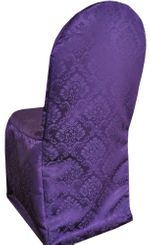 Damask Banquet Marquis Jacquard Polyester Chair Covers - Eggplant 99245 (1pc/pk)