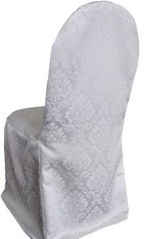 Marquis Jacquard Polyester Banquet Chair Cover-Ivory 99202 (1pc/pk)