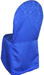 Marquis Jacquard Polyester Banquet Chair Cover-Royal Blue 99222 (1pc/pk)