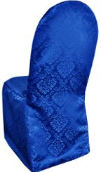 Damask Banquet Marquis Jacquard Polyester Chair Covers - Royal Blue 99222 (1pc/pk)