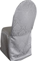 Marquis Jacquard Polyester Banquet Chair Cover-Silver 99240 (1pc/pk)