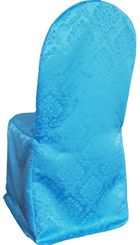 Marquis Jacquard Polyester Banquet Chair Cover-Turquoise 99285 (1pc/pk)
