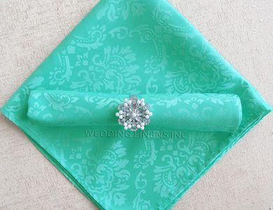 """20"""" x 20"""" Marquise Jacquard Polyester Napkins (12 colors)"""