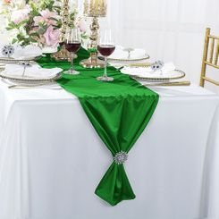 "13""x 108"" Scuba (Wrinkle-Free) Table Runner - Emerald Green 20238 (1pc)"