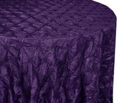 "120"" Pinchwheel Taffeta Tablecloth - Eggplant 66945(1pc/pk)"
