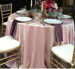 "120"" Round Seamless Italian Velvet Tablecloths (5 Colors)"