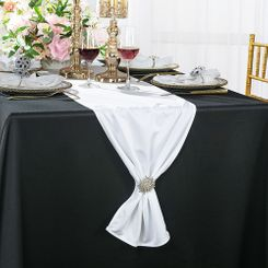 "13""x 108"" Scuba (Wrinkle-Free) Table Runner - White 20201 (1pc)"