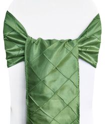 "9.5"" x 108"" Pintuck Taffeta Chair Sashes - Clover Green 60148(10pcs/pk)"