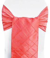"9.5"" x 108"" Pintuck Taffeta Chair Sashes - Coral 60106 (10pcs/pk)"