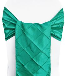 "9.5"" x 108"" Pintuck Taffeta Chair Sashes - Jade 60126 (10pcs/pk)"
