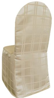 Plaid Jacquard Polyester Banquet Chair Covers (4 colors)
