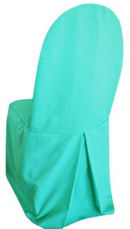 Polyester Banquet Chair Covers - Tiff Blue / Aqua Blue 52518 (1pc/pk)