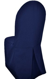 Polyester Banquet Chair Covers - Navy Blue 52523 (1pc/pk)