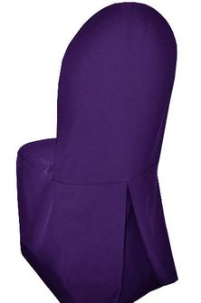 Polyester Banquet Chair Covers - Regency Purple 52563 (1pc/pk)