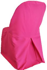 Polyester Folding Chair Cover - Fuchsia 52309 (1pc/pk)