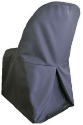 Polyester Folding Chair Cover - Pewter 52360 (1pc/pk)