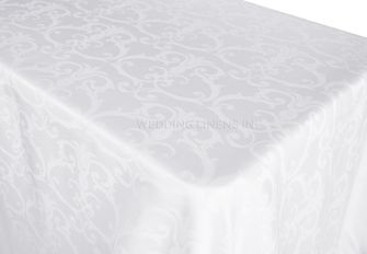 Rectangle Versailles Chopin Damask Jacquard Polyester Tablecloths (3 sizes)