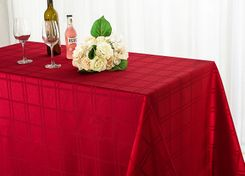 Rectangular Plaid Jacquard Polyester Tablecloths (2 sizes)
