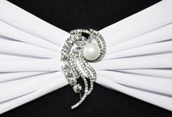 Rhinestone Chair Sash / Chair Band Buckles (16 Styles)