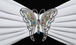 Rhinestone Chair Sash / Chair Band Buckles - Butterfly 62417 (1pc/pk)