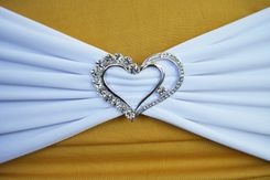 Rhinestone Chair Sash / Chair Band Buckles - Heart 62405 (1pc/pk)