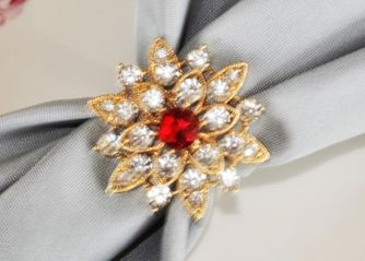 Rhinestone Napkin Ring - North Star 72412(1pc/pk)